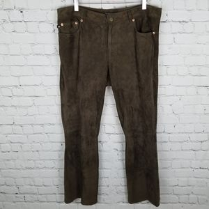 POLO RL   suede leather lined bootcut pants